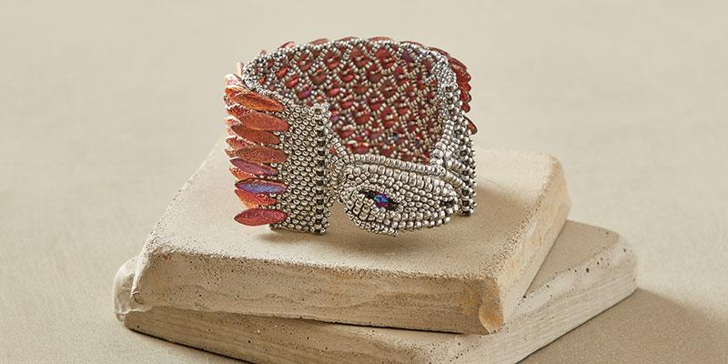 Ouroboros Dragon Cuff by Michelle Leonardo