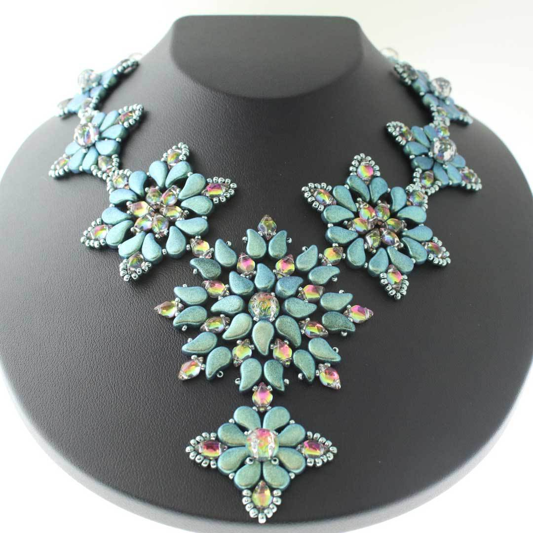 Playful Paisley beaded necklace by Leslie Pope