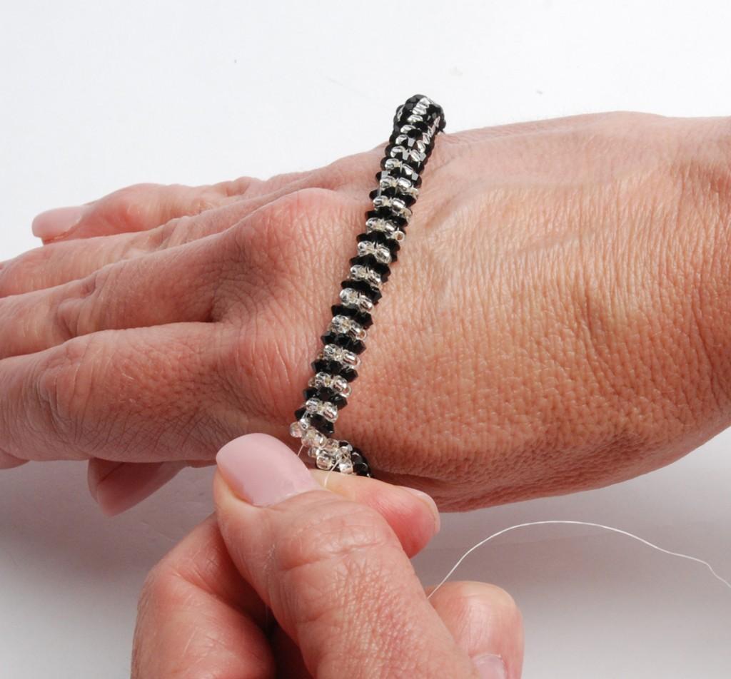 PRAW Step 9b, PRAW beaded bracelet by Tammy Honaman