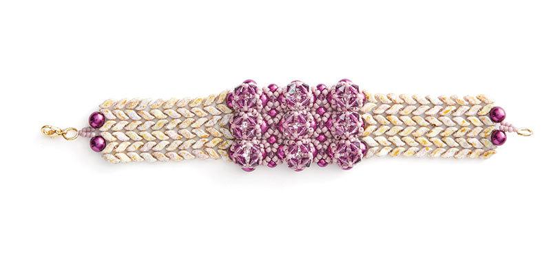 Evelina Palmontova's Sunlit Wheat Bracelet Beadwork