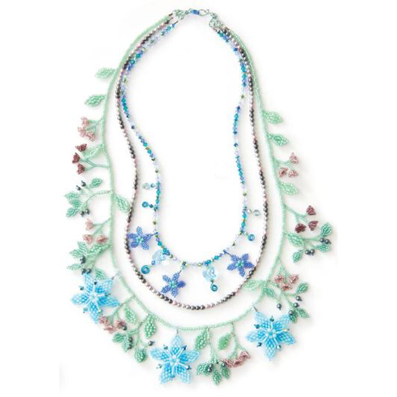A reader designs piece inspired by a Beadwork Challenge kit.