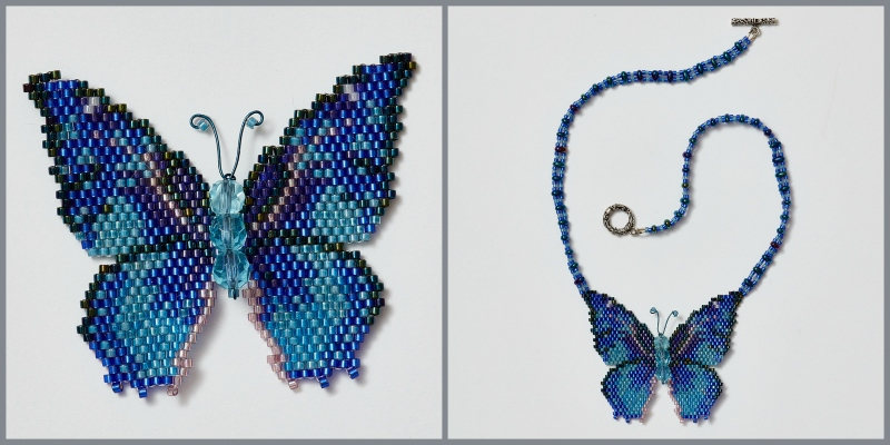 Create a Necklace from a Gorgeous Beaded Butterfly