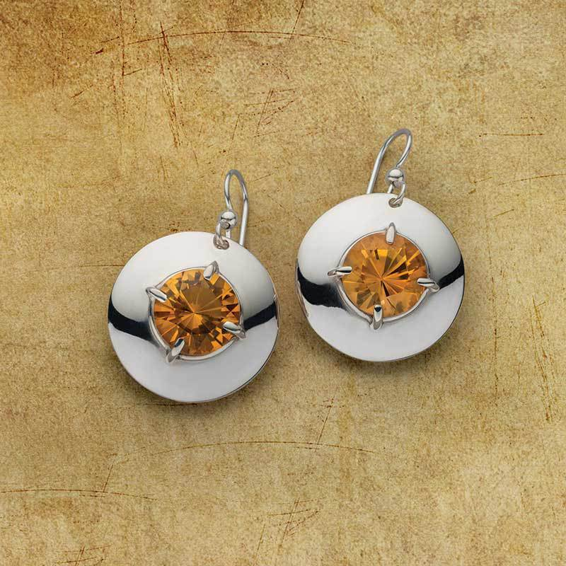 Citrine dazzles in these easy-to-make earrings, by Sam Patania. Photo, Jim Lawson
