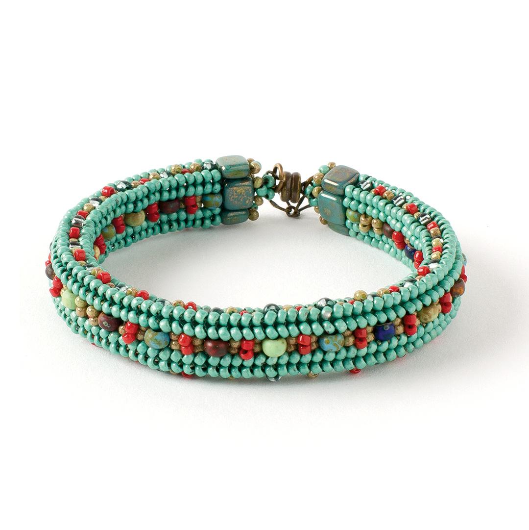 Sunny Day Bracelet from Beadwork June/July 2014