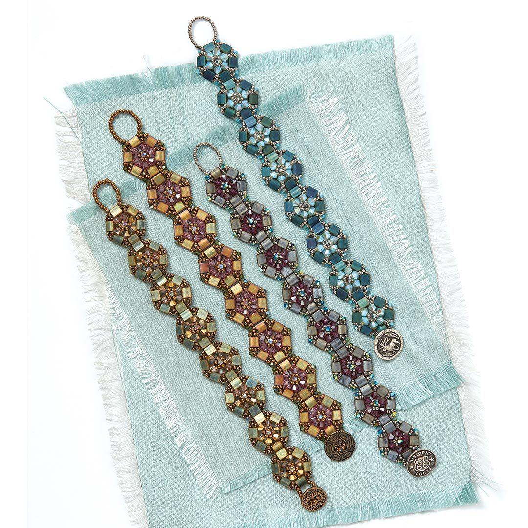 shapead beads: Regina Payne's Flower Garland Bracelet