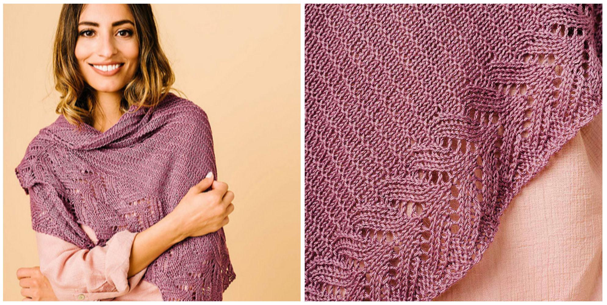 peaks & valleys shawl