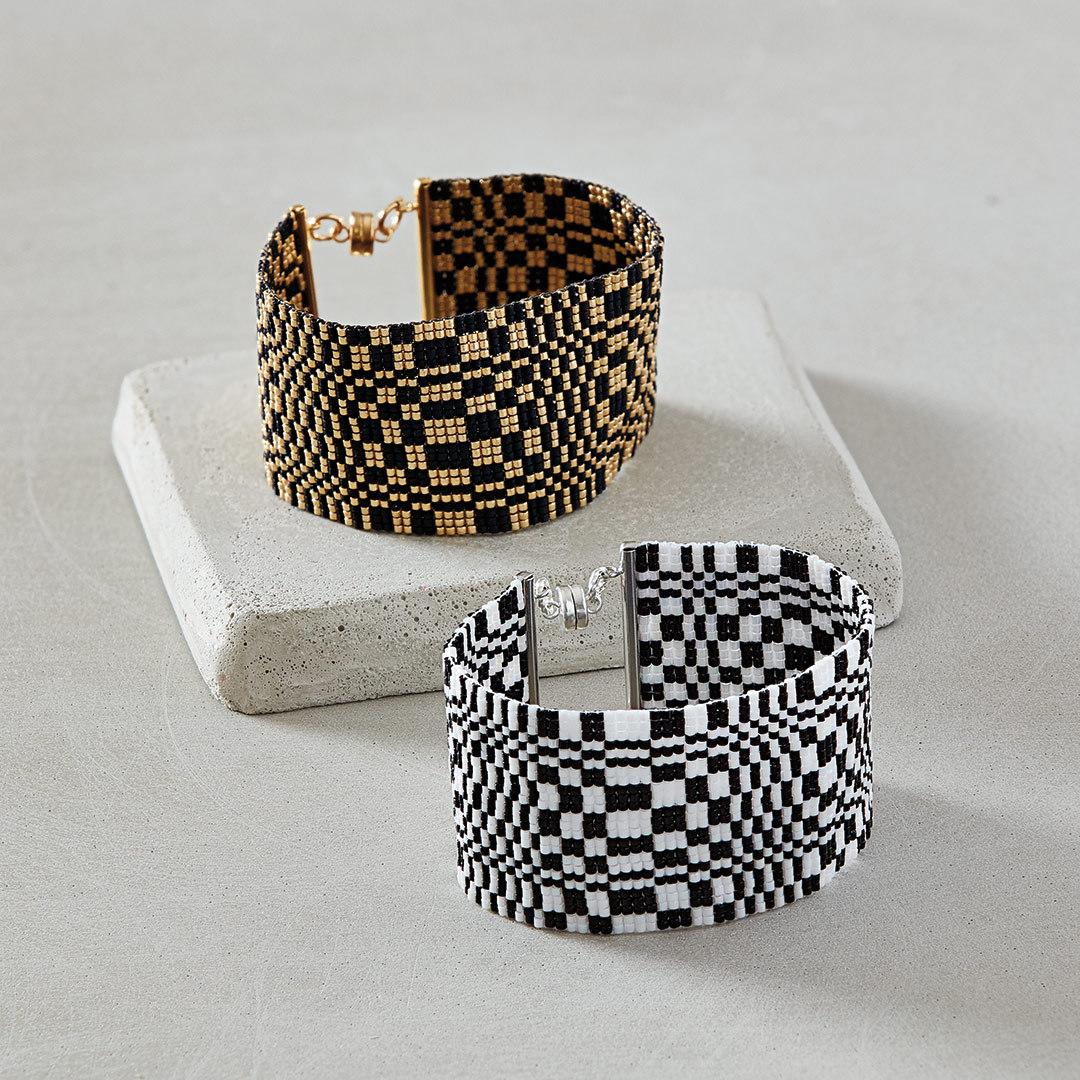 Susan Pelligra's Loomed Illusion Bracelet