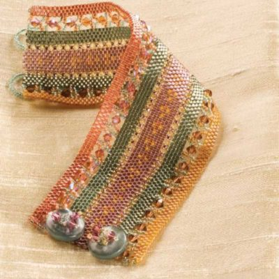 Peyote Companion, Banded Tapestry Cuff, by Kathy King - peyote stitch
