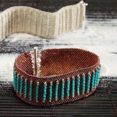 Peyote Stitch Companion, Tractor Tread Bracelet, by Tippy Mueller, Peyote Stitch bracelet