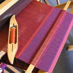 Weaving techniques like weaving in a stick allow you to sample much more effectively, without wasting too much warp.