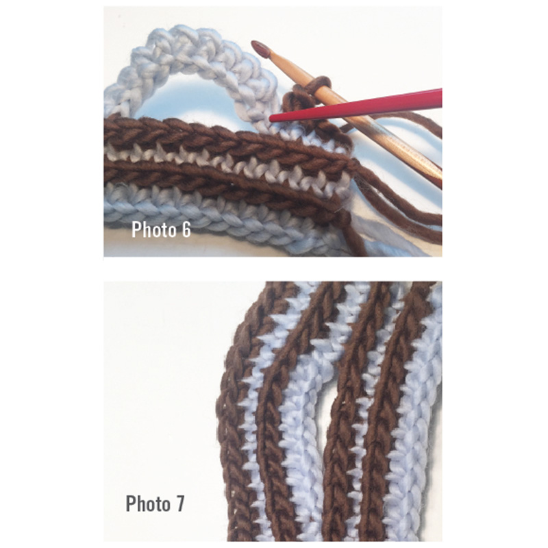 brioche crochet cable