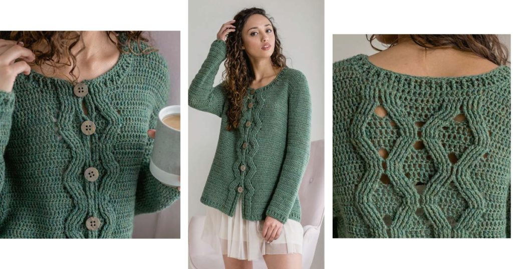 Pie Bake Cardigan by Natasha Robarge