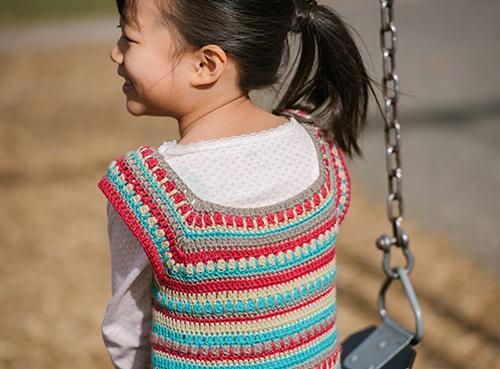 Neckline of the Play Day Crochet Dress