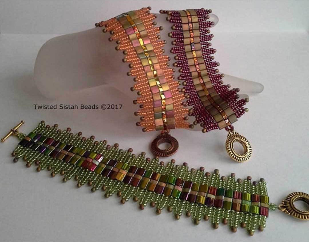 Art Deco Crowns Bracelet by Leslie Pope