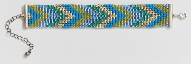 Practical bead loom bracelet pattern