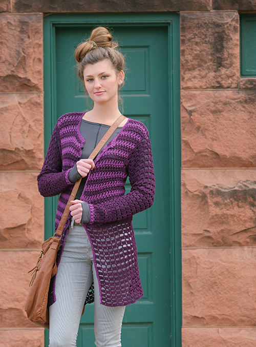 Prince Cardigan with Stripes