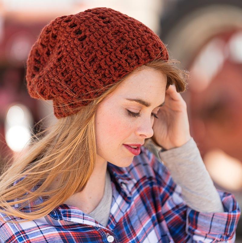 Pumpkin Pie slouchy crochet hat