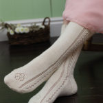 Queen Victoria's Stockings to Knit by Debbie O'Neill, featured in Piecework May/June 2014