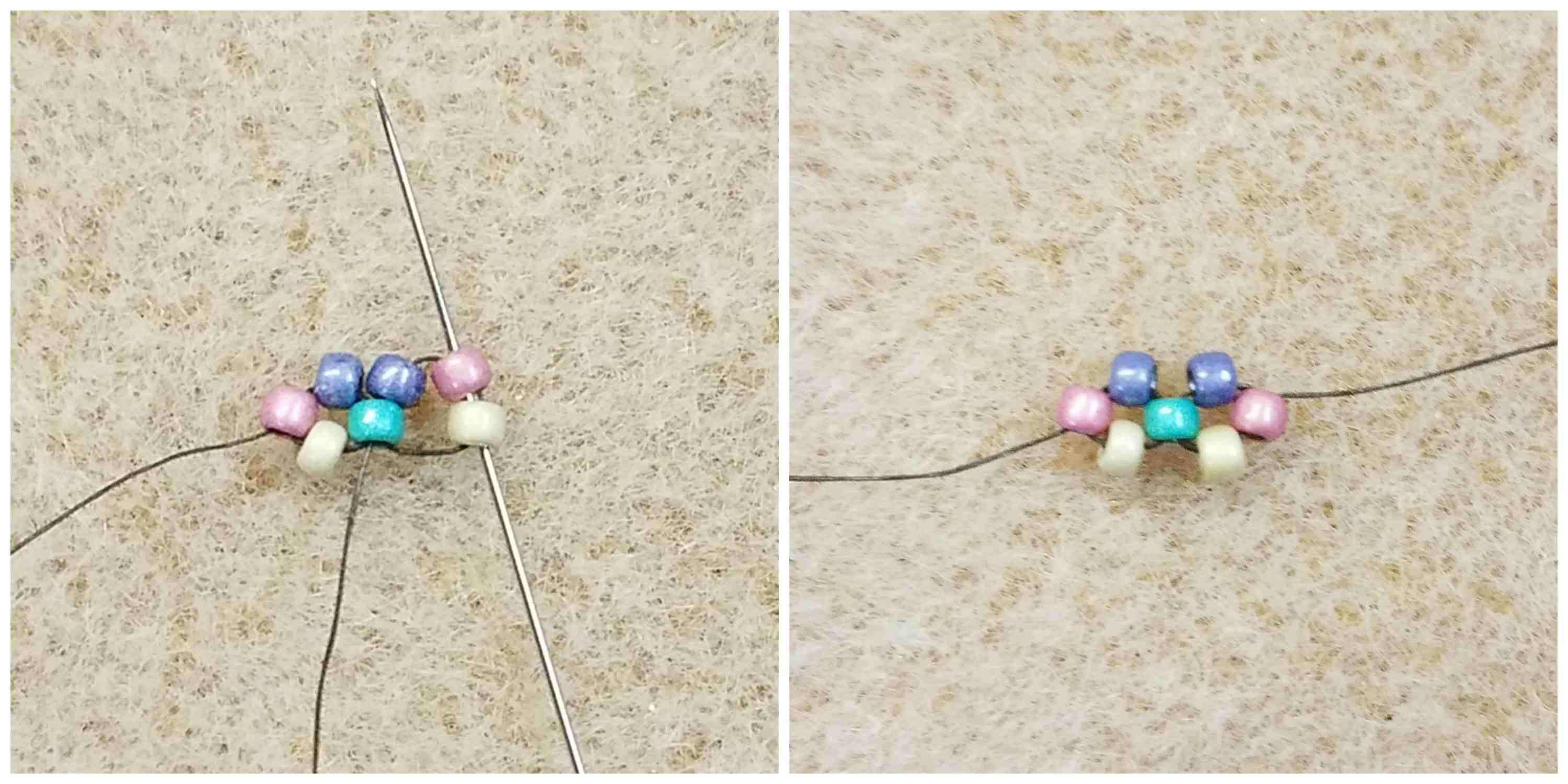 How To Stitch Right-Angle Weave steps 7 and 8
