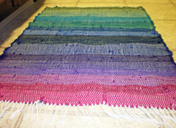 Weaving with Rags, Whitney's finished rag rug