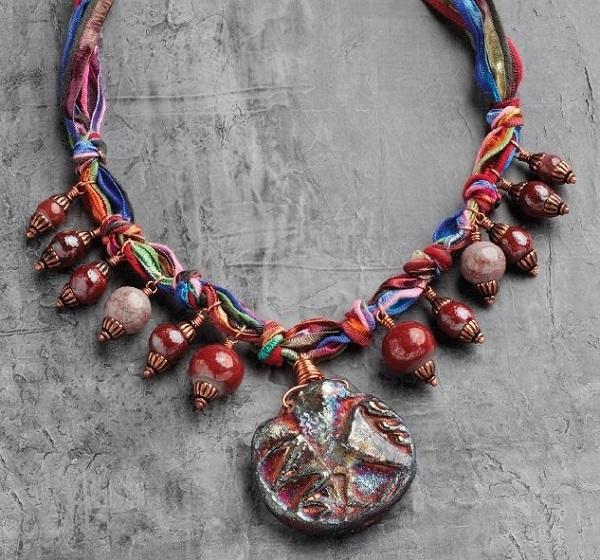 ribbon necklace by Erin Siegel