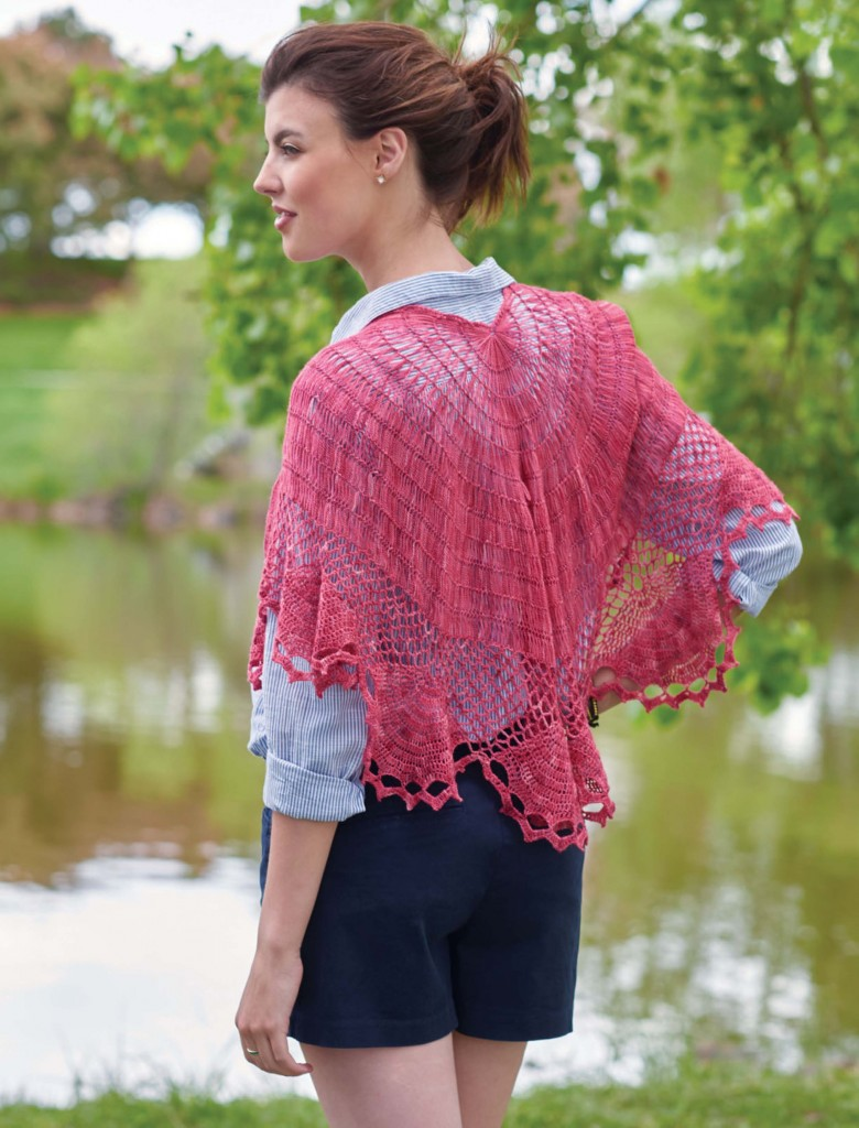 Ramblin' Rose Hairpin Lace Crochet Shawl, Continuous Crochet by Kristin Omdahl