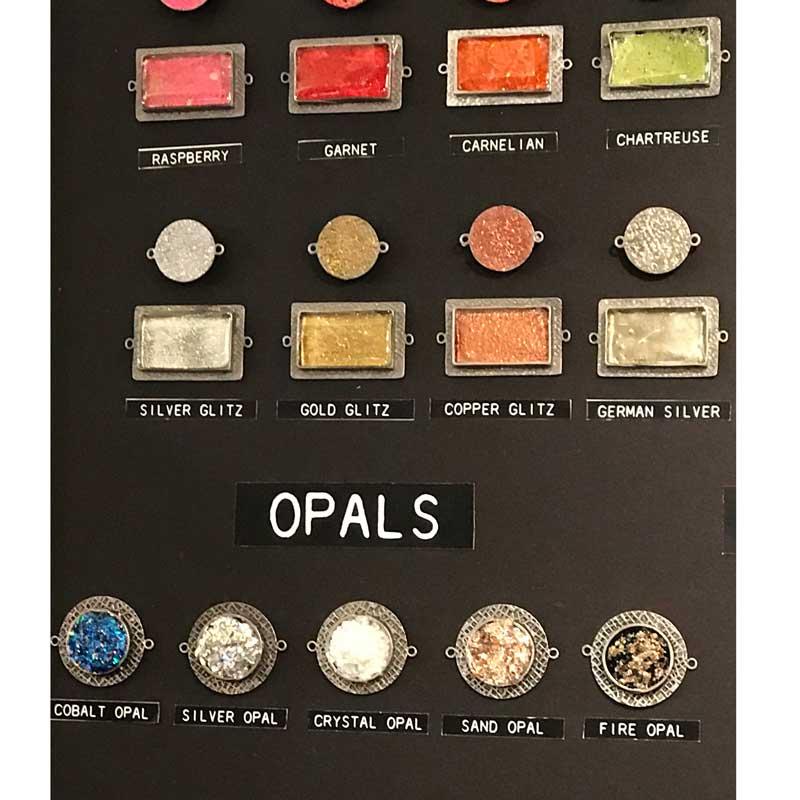 ICE Resin glitter tints opal inks - Tucson show