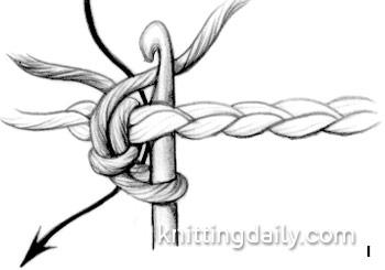 Reverse Single Crochet rev sc Fig 1