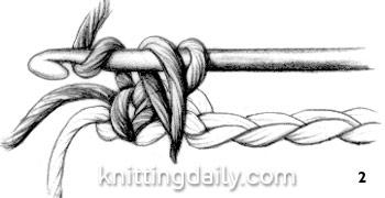 Reverse Single Crochet rev sc Fig 2