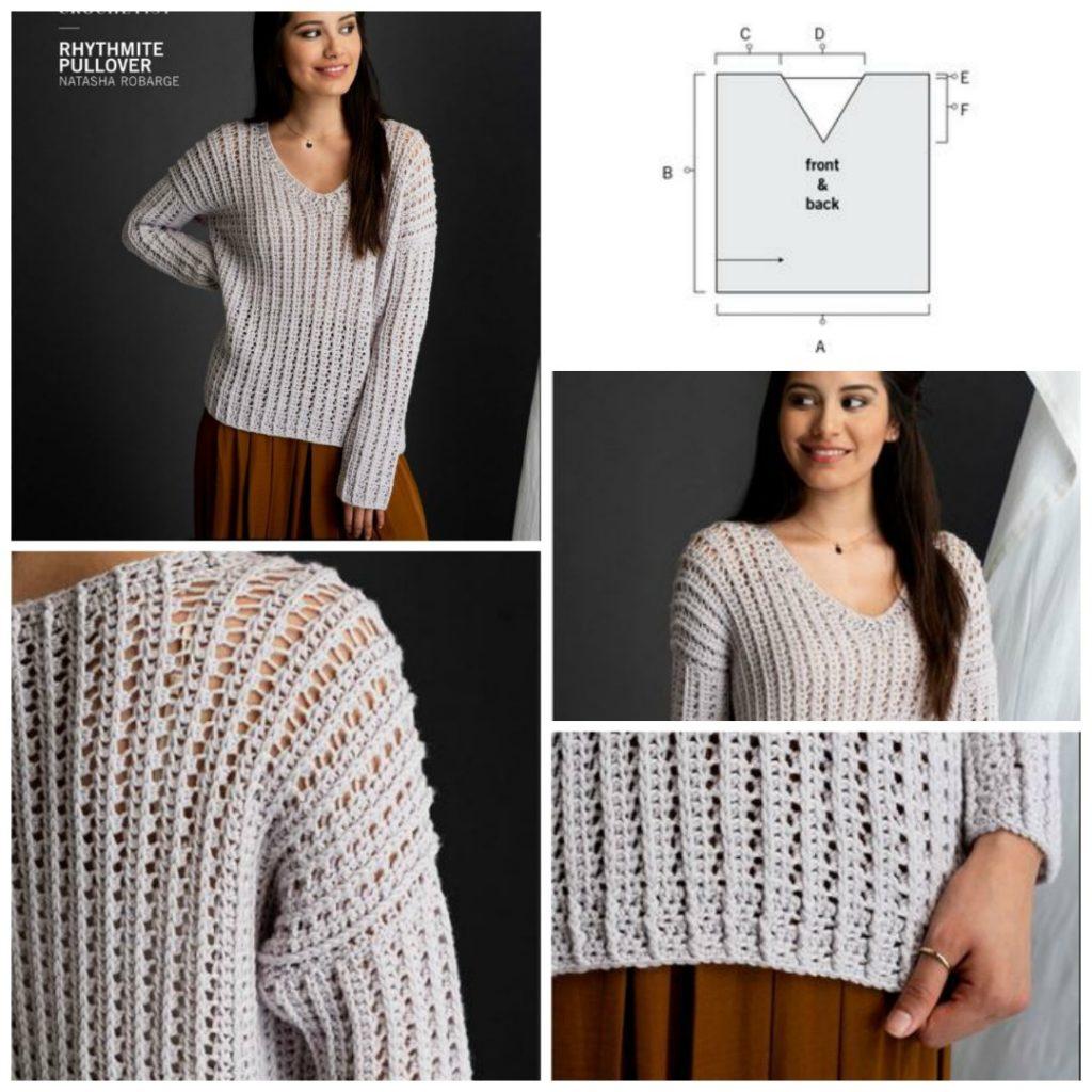 Rhythmite crochet sweater
