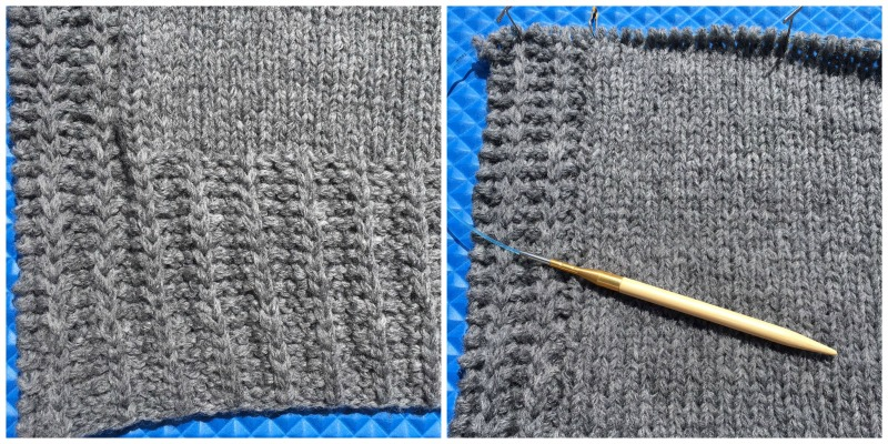 Time to knit armholes! Compared to shaping armholes, this ribbing that gave me so much trouble was a breeze.