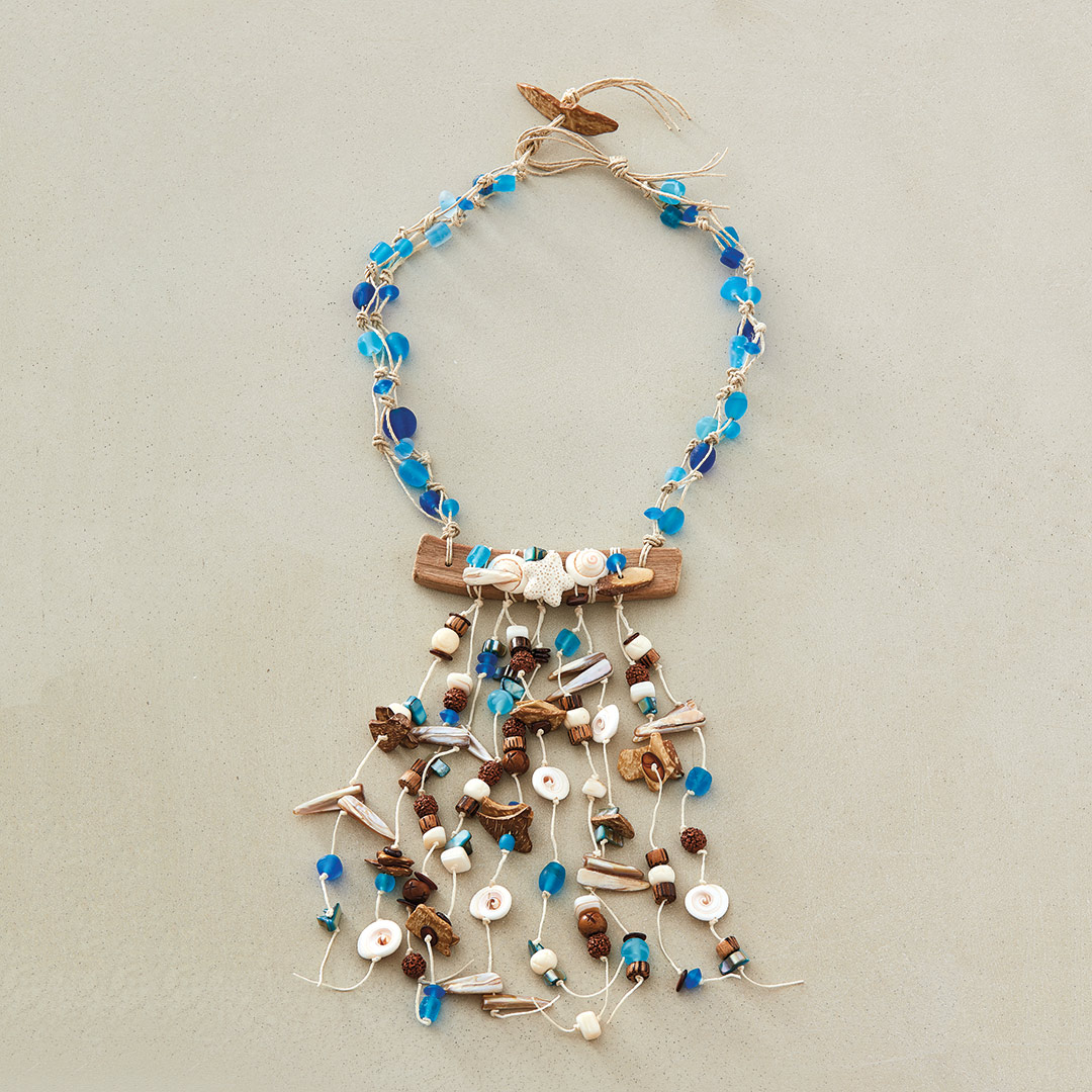 Beachcombing Necklace by Terry Ricioli inspired by nature