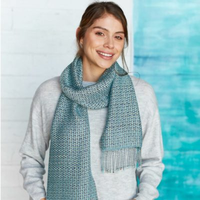 Canvas-Weave Scarf