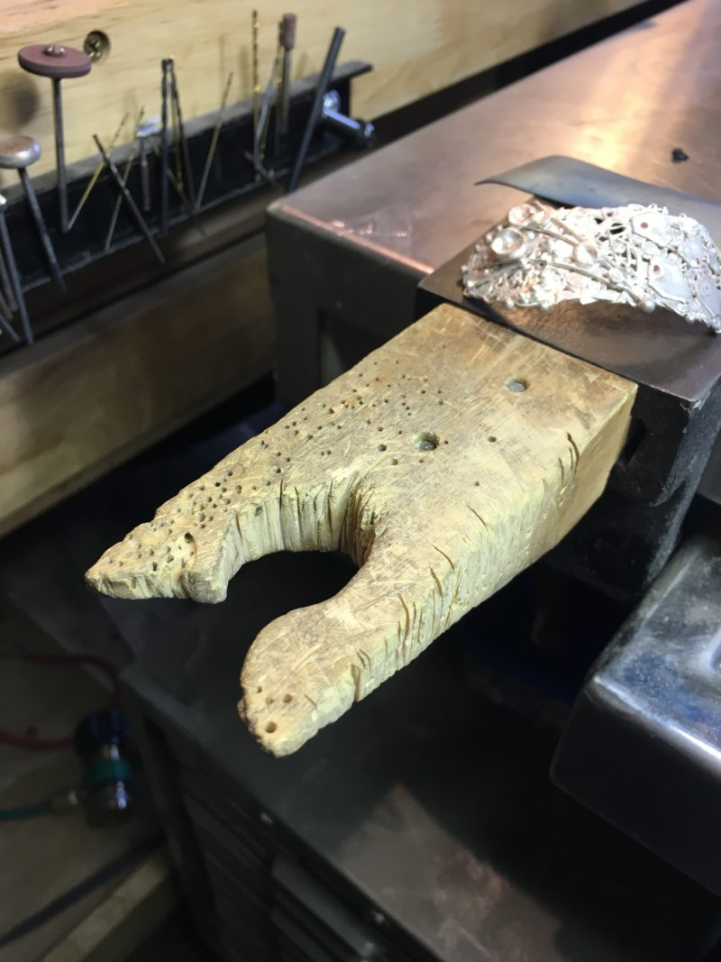 metalsmithing tools: Robert Lopez's bench pin