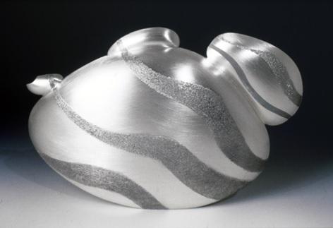 Rockpot Argentium sterling silver teapot by Cynthia Eid