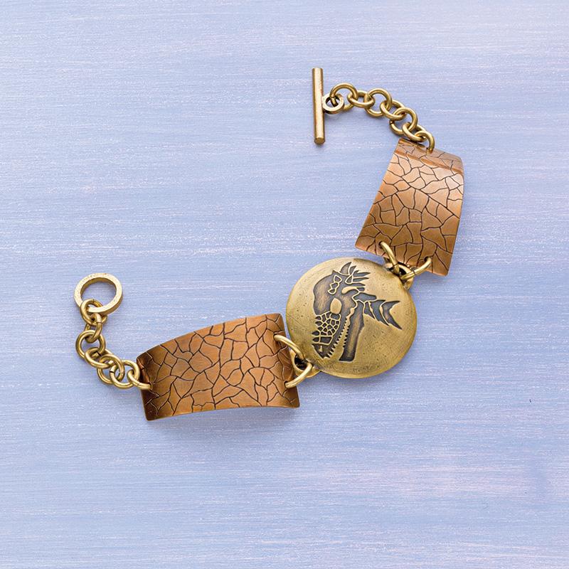 Easy Prehistoric Winner Dinosaur Bracelet by Roger Halas