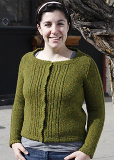 Knitting Gallery - Ropes and Picots Cardigan Stefanie