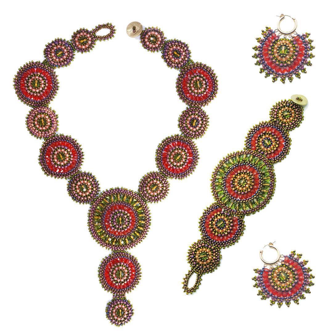 beaded mandala jewelry: Mandala Magic Set by Maggie Roschyk
