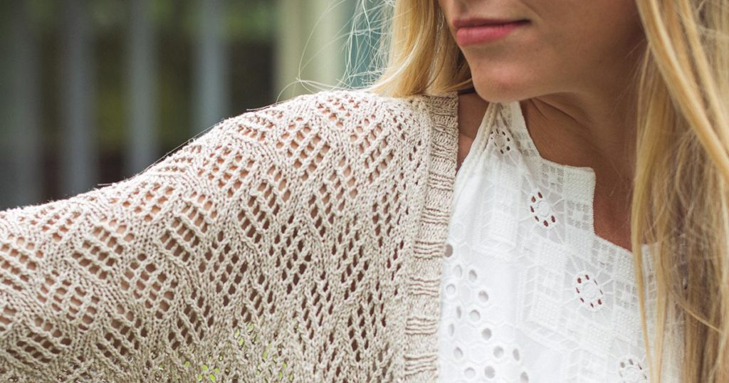 <em>knitscene</em> Summer 2018: Sandy Cardigan
