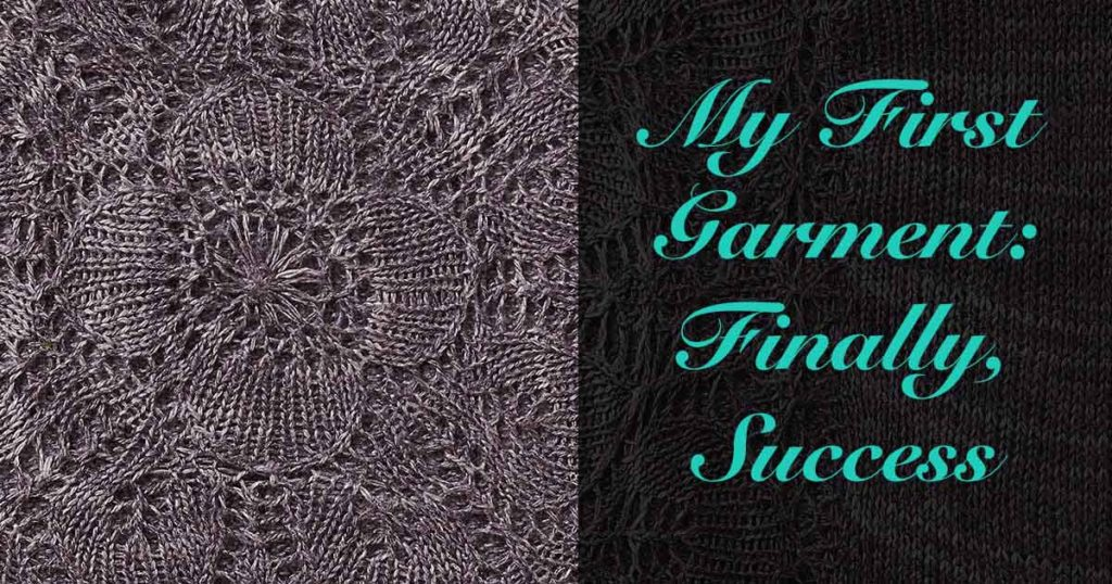 The Seashell Tank: Finding Success in My First Knitted Garment