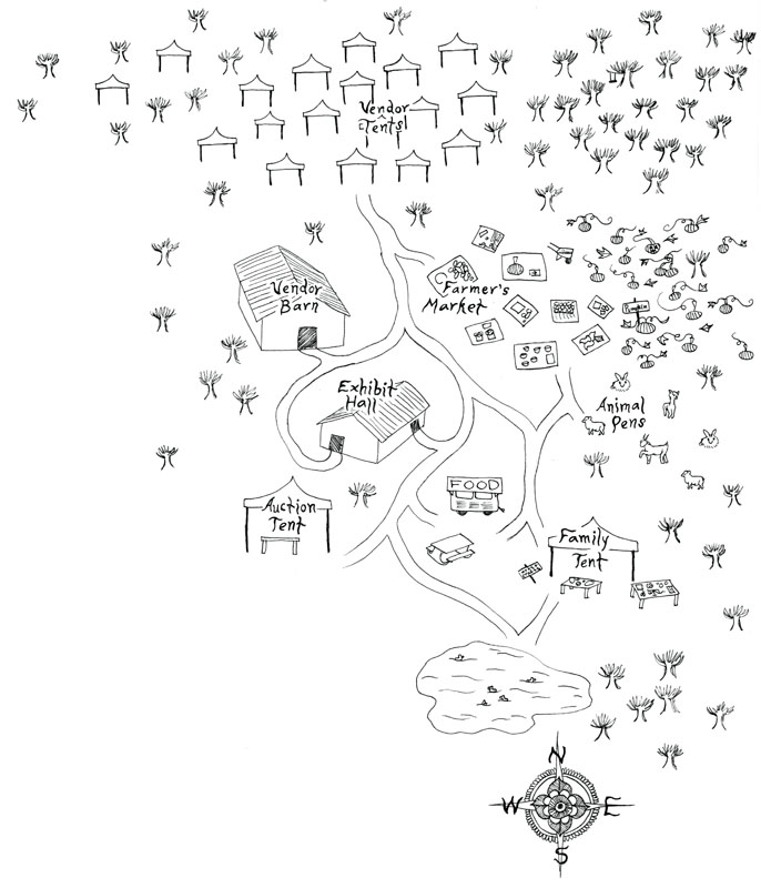 Fiber Festival What to Bring: Illustration by Laurel Johnson.