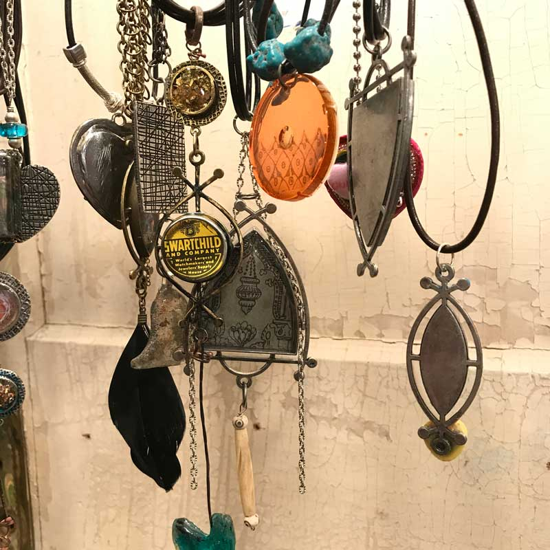 Designs by Susan Lenart Kazmer, featuring a few new ICE Resin Rune Bezels along with other works. - Tucson shows