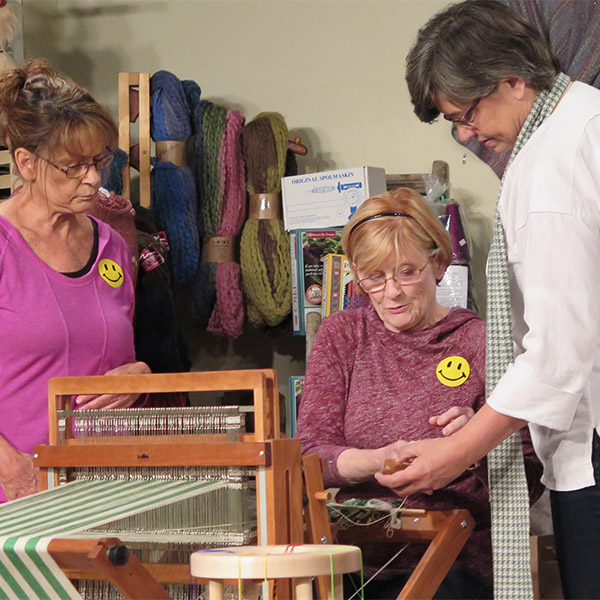 Demonstration of weaving by Smoky Mountain Spinnery