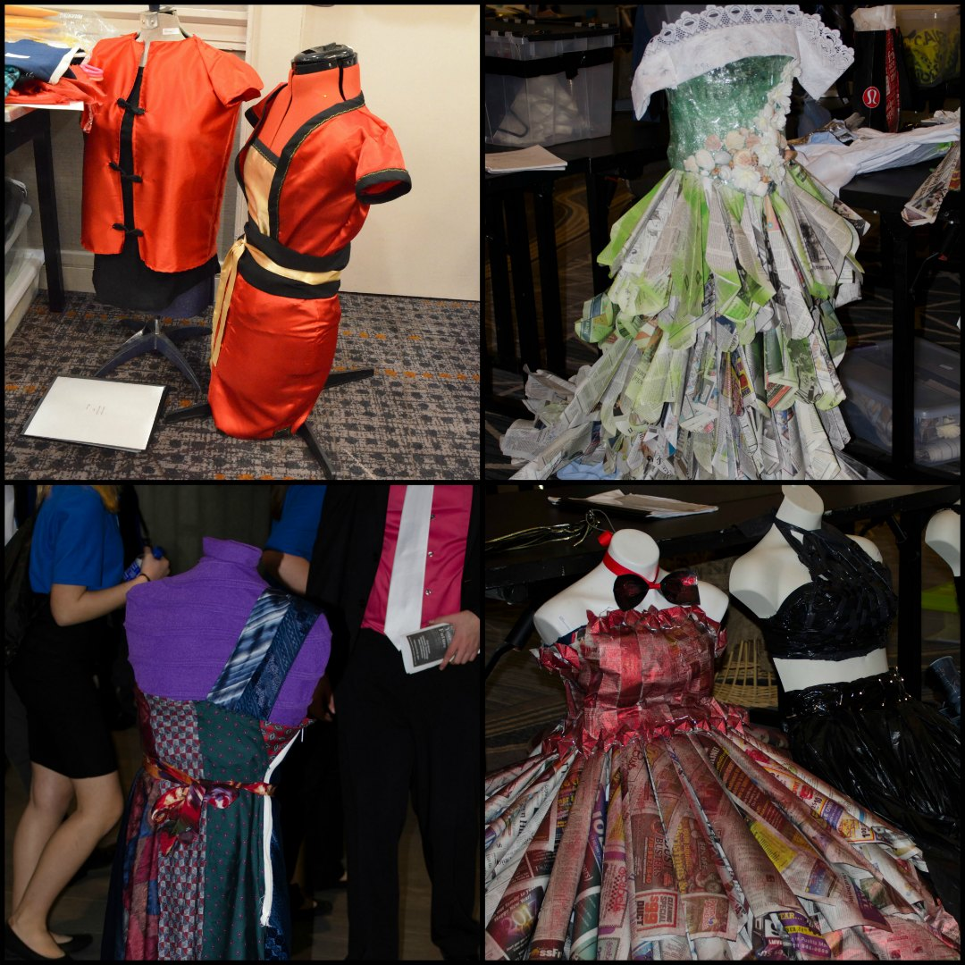 Middle school students compete in Colorado TSA's Fashion Design competition, bringing STEM and craft together. Images courtesy of Colorado TSA.