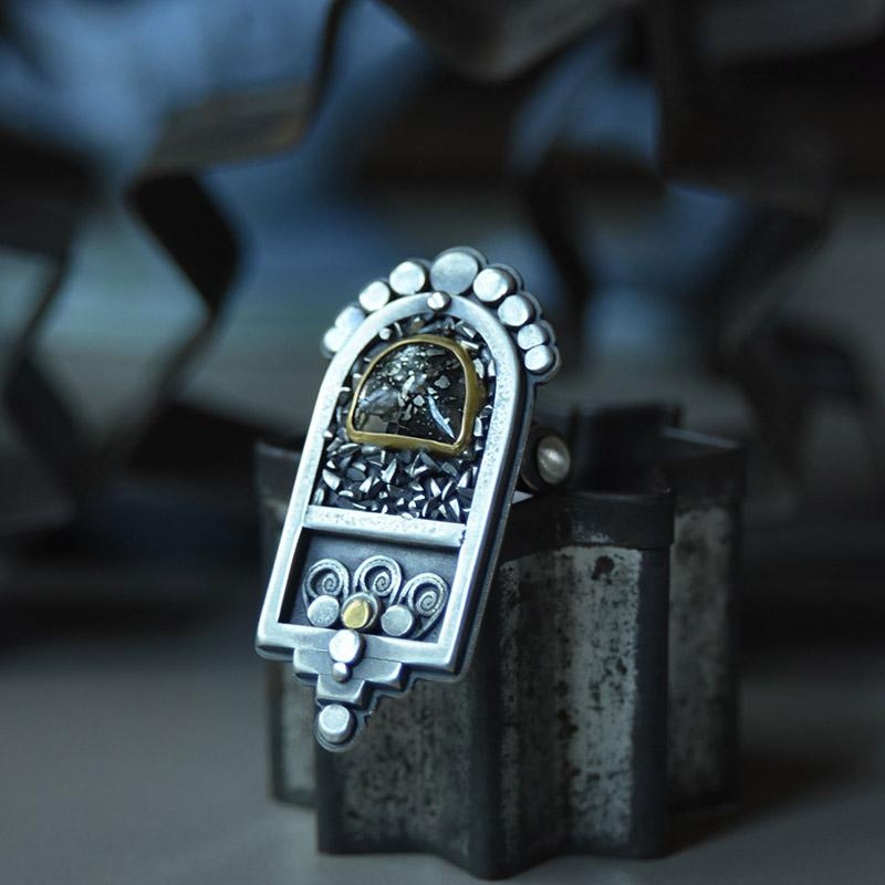 Sacred Center Ring by jewelry artist Jessica Jordan
