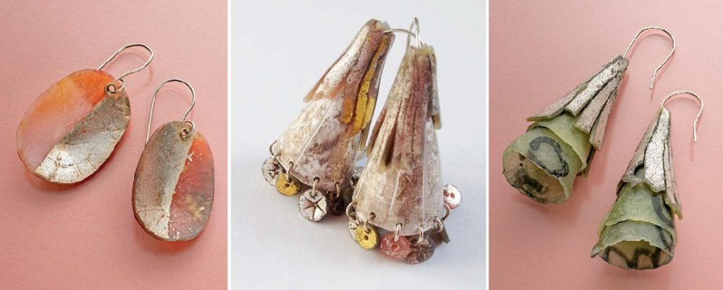 polymer clay and image transfer jewelry designs by Sarah Wilbanks