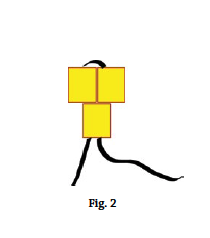 Brick stitch basics, figure 2