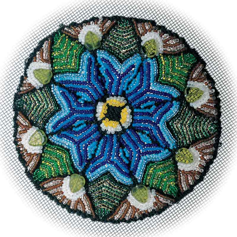 Bead Weaving: Start Your Spring with Beaded Leaves and Flowers with Huib Petersen. Stained Glass Screen Beading by Sandie Abel