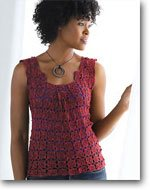 Serene Box Pleat Top by Kristin Omdahl | CrochetMe.com