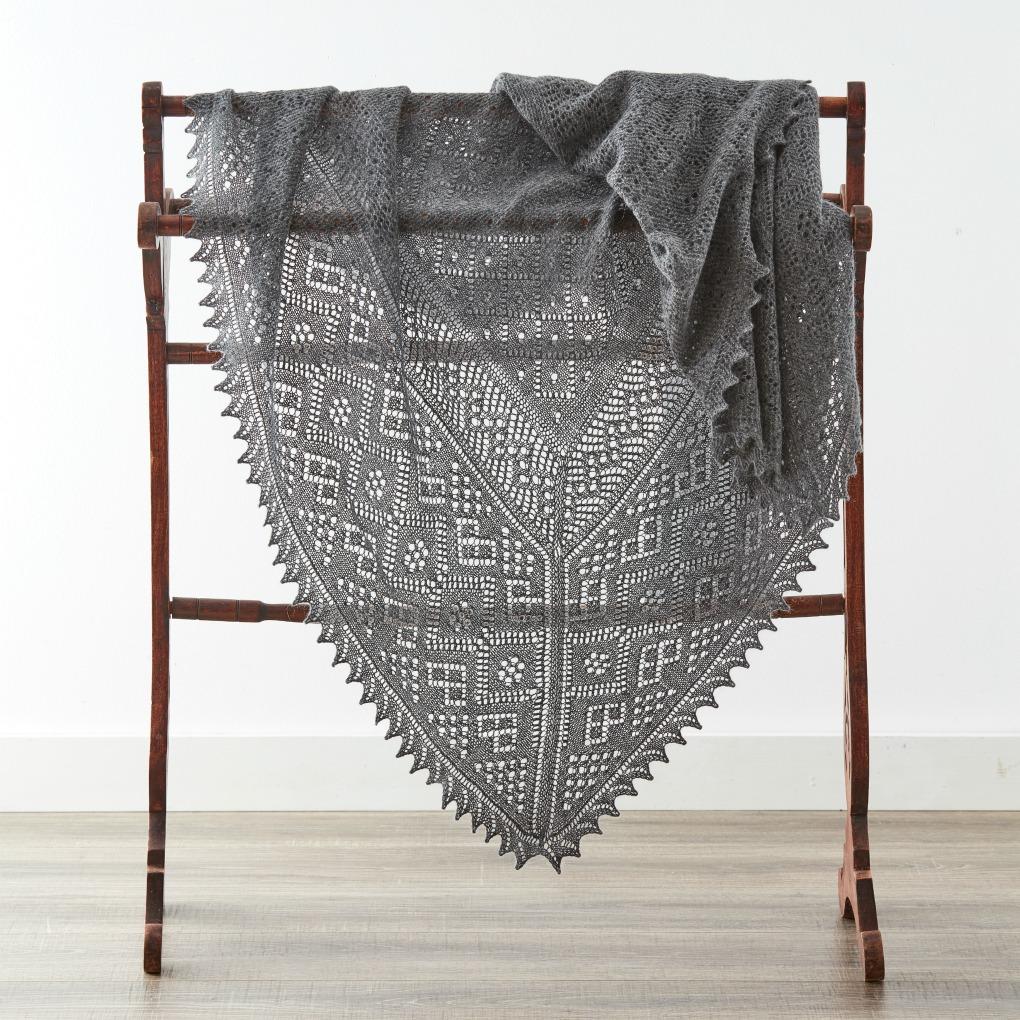 An Orenburg warm shawl.